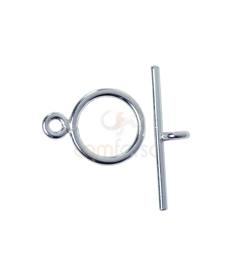 Fermoir T 10 mm barre 19 mm argent 925