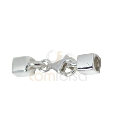 Fermoir carré 6 mm (int) argent 925