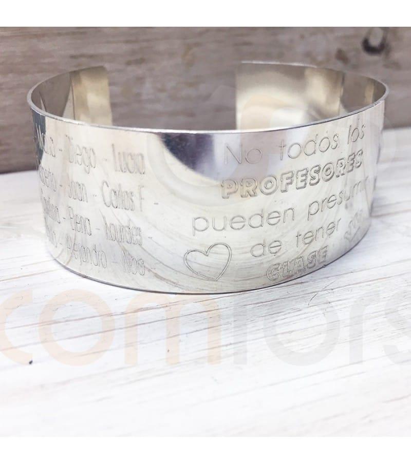 Bracelet personnalisé en argent 925 pour des professeurs