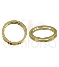 Breloque anneau 20 mm argent 925ml doré