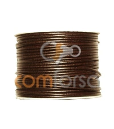 Cuir marron 5 mm (m