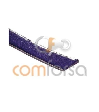 Cuir violet plat 7mm 50%