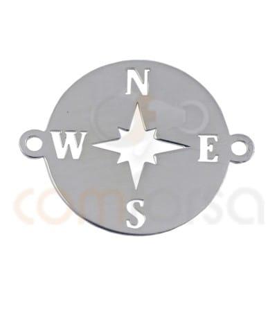 Intercalaire Rose des Vents 15mm argent 925ml