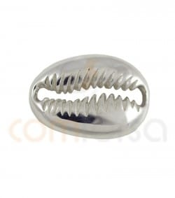 Intercalaire coquillage 17 x 12 mm argent 925 plaqué or