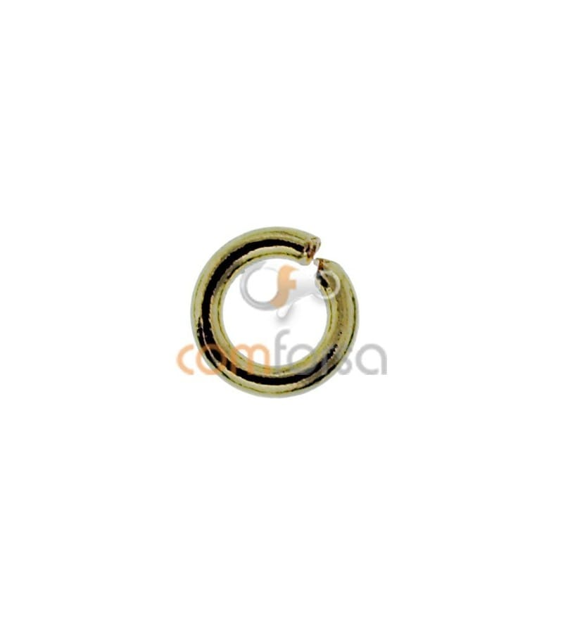Anneau rond 4 mm ext Or 750 ml