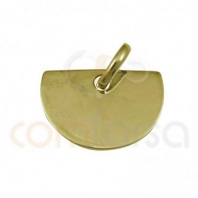 Pendentif demi cercle 15 x 10 mm argent plaqué en or