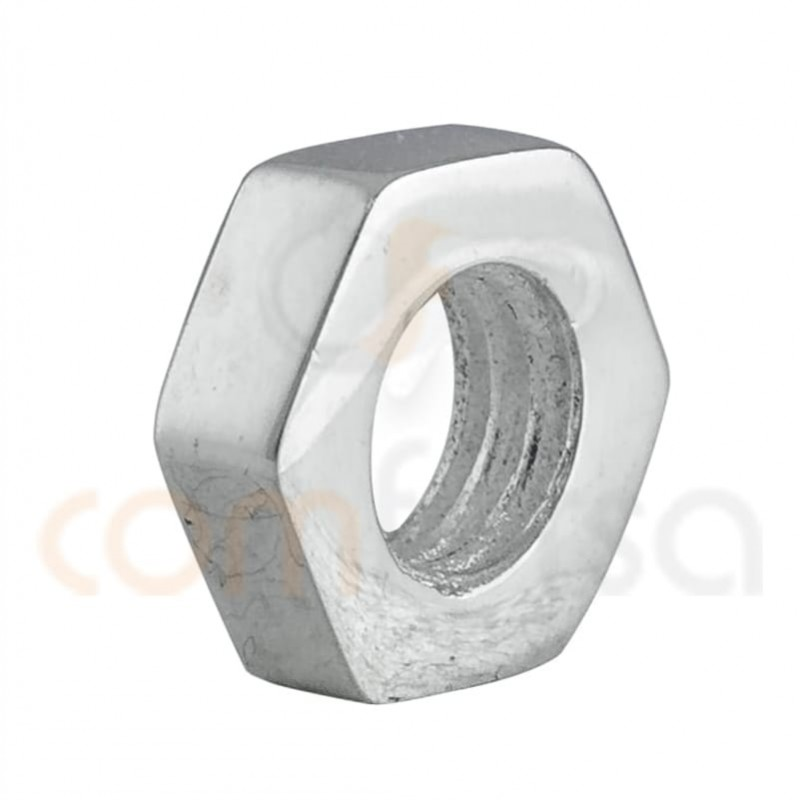 Intercalaire écrou argent 10mm (4.7mm) argent 925