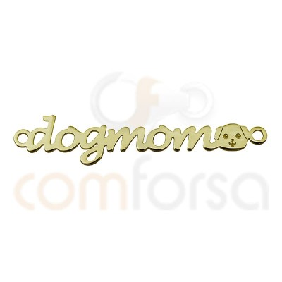 ENTRETOISE ``DOGMOM´´ ARGENT PLAQUÉ OR