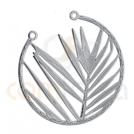 Intercalaire feuille ouverte 25 mm argent 925ml