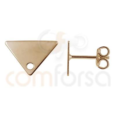 Boucle d´oreille triangle 11 x 7 mm argent plaqué or rose