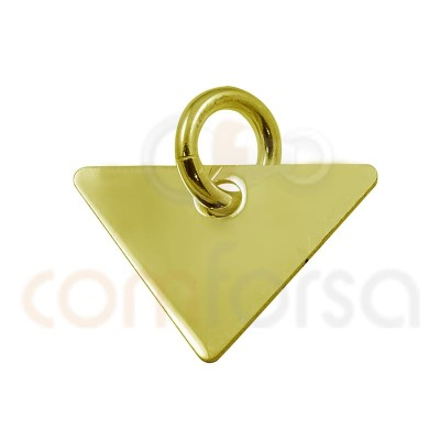 Pendentif triangle 20 x 17 mm argent plaqué or