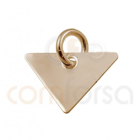 Pendentif triangle 20 x 17 mm argent plaqué or rose