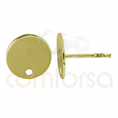 Boucles d'oreilles cercles 10 mm avec trou argent 925...