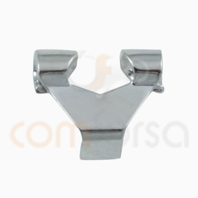 Clip grand omega 9 x 8 mm argent 925 ml