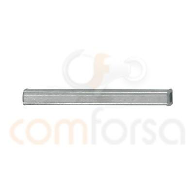 Tube carré 2 mm (exterieur) x 20 mm