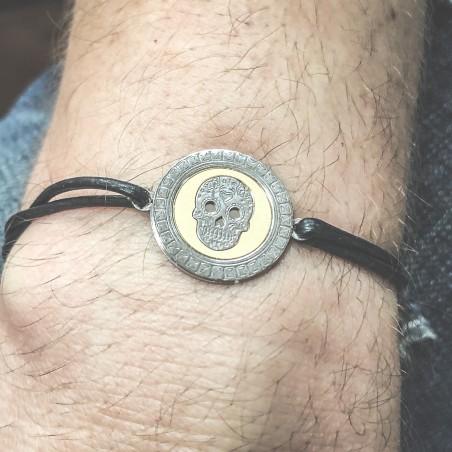 Entretoise crâne mexican 18 mm en argent