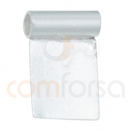 Plaque pour cristales 13x13 mm argent 925