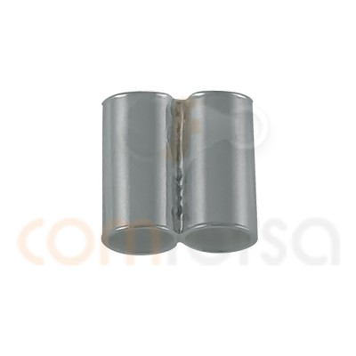Tube double 2 mm argent 925 ml