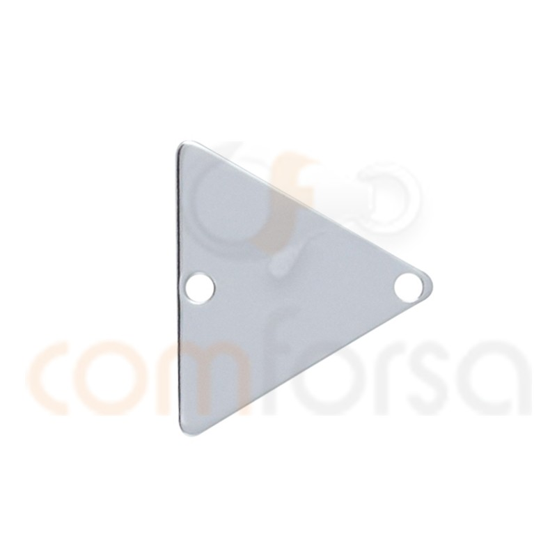 Intercalaire triangle lisse 12 mm argent 925