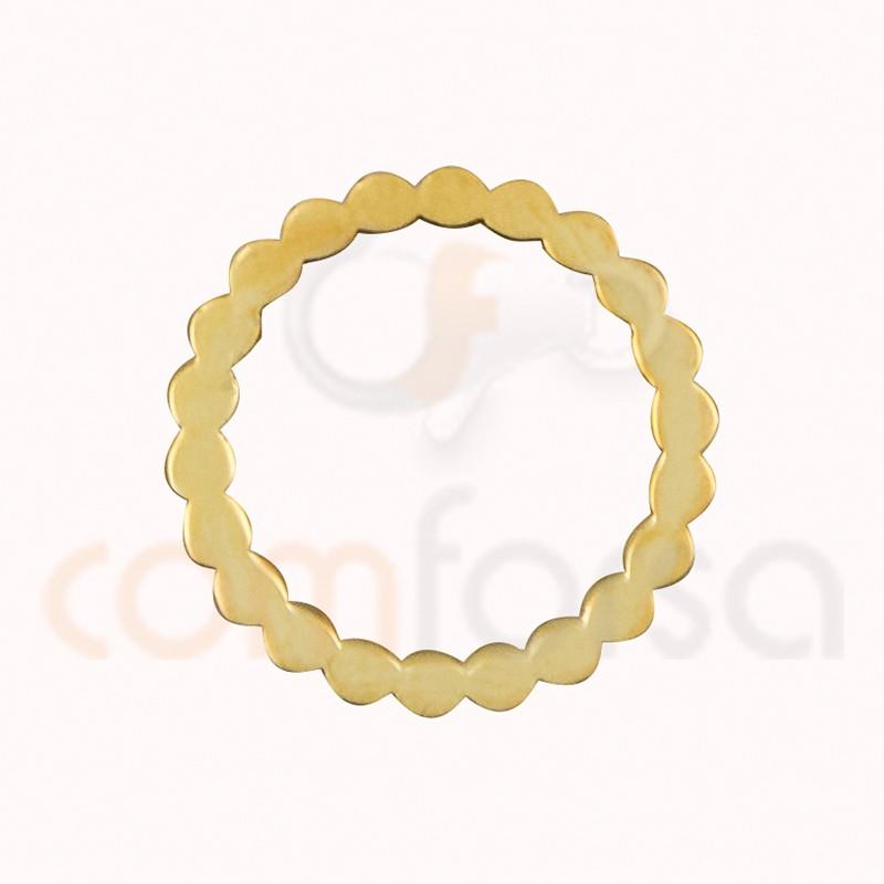 Intercalaire circle ondes 13 mm argent 925 doré