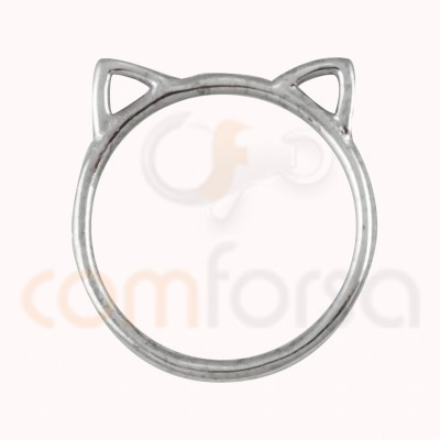 Intercalaire chat 13 x 14 mm argent 925ml