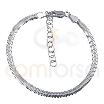 Bracelet serpent 15+3 cm argent 925