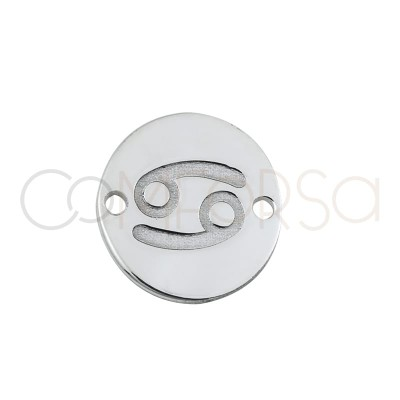 intercalaire horoscope Cancer bas-relief 10 mm argent 925