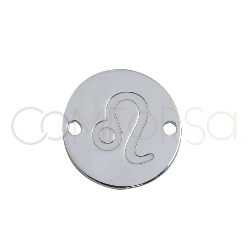 Intercalaire horoscope Lion bas-relief 10 mm argent 925