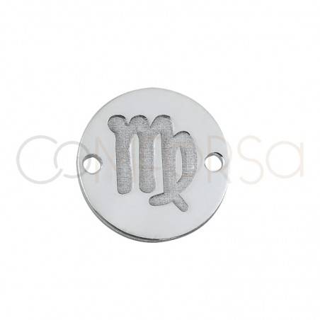 Intercalaire horoscope Vierge bas-relief 10 mm argent 925