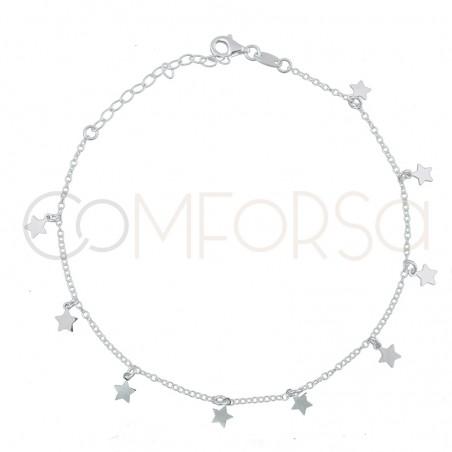 Chevillière 9 étoiles 21.5 + 4.5 cm argent 925