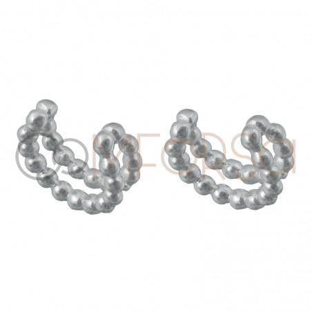 Ear cuff perles 11.5 mm argent 925 plaqué or