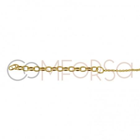 Chevilliere avec croix 21.5cm argent 925 plaqué or