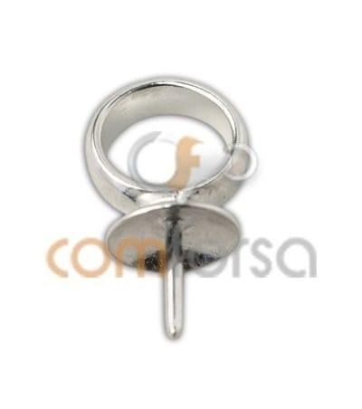 Bélière pour perles 6x16mm (7mm) argent 925ml