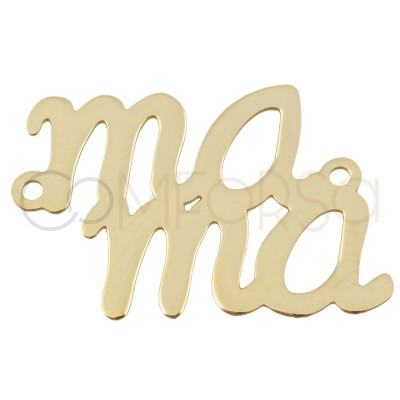 Intercalaire mama 14x20mm argent 925 plaqué or