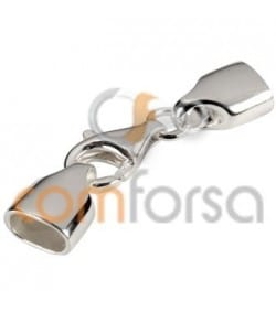 Fermoir mousqueton attache lacet 6x3 mm argent 925