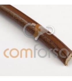 Cuir réglisse 8 mm marron qualité premium