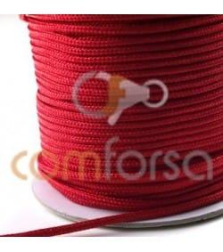 Nylon tressé 2 mm rouge