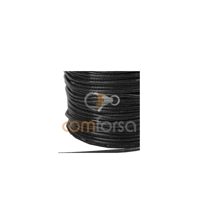 Cordon ciré 1,2 mm noir
