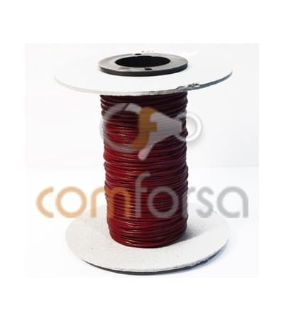 Cuir kangourou rouge 1 mm (Qualité premium)