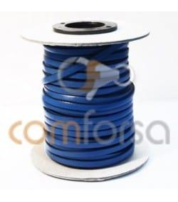 Cuir bleu clair plat 5 mm