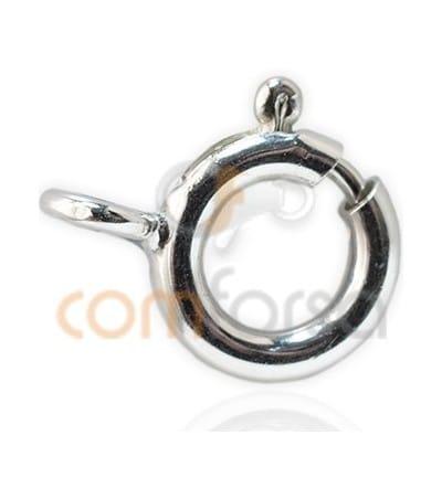 Fermoir anneau 8 mm renforcé argent 925 ml