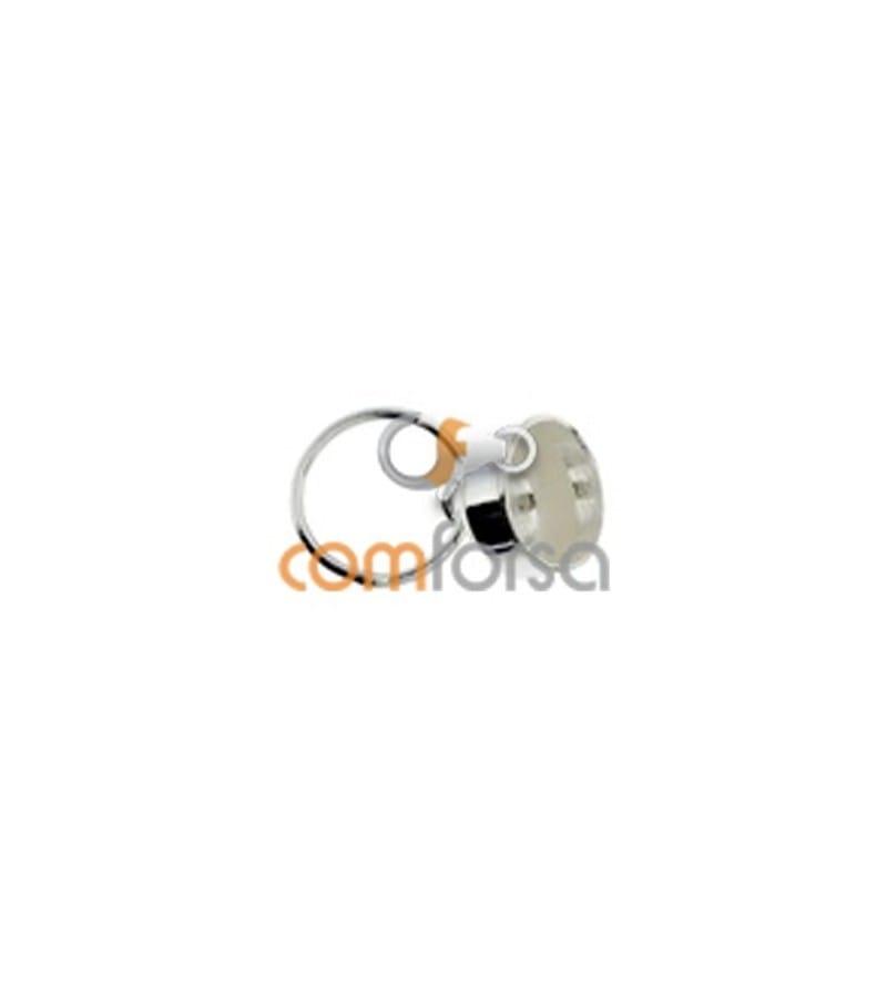 Calotte avec anneau pour pendentif 4 mm argent 925