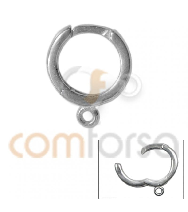 Clip creole 12 mm avec anneau (2mm)