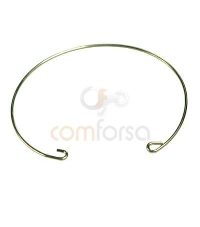 Bracelet de fil 16.5 cm ( 0.9) argent 925 doré