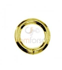Anneau soudé 7 mm ext (1.3) argent doré
