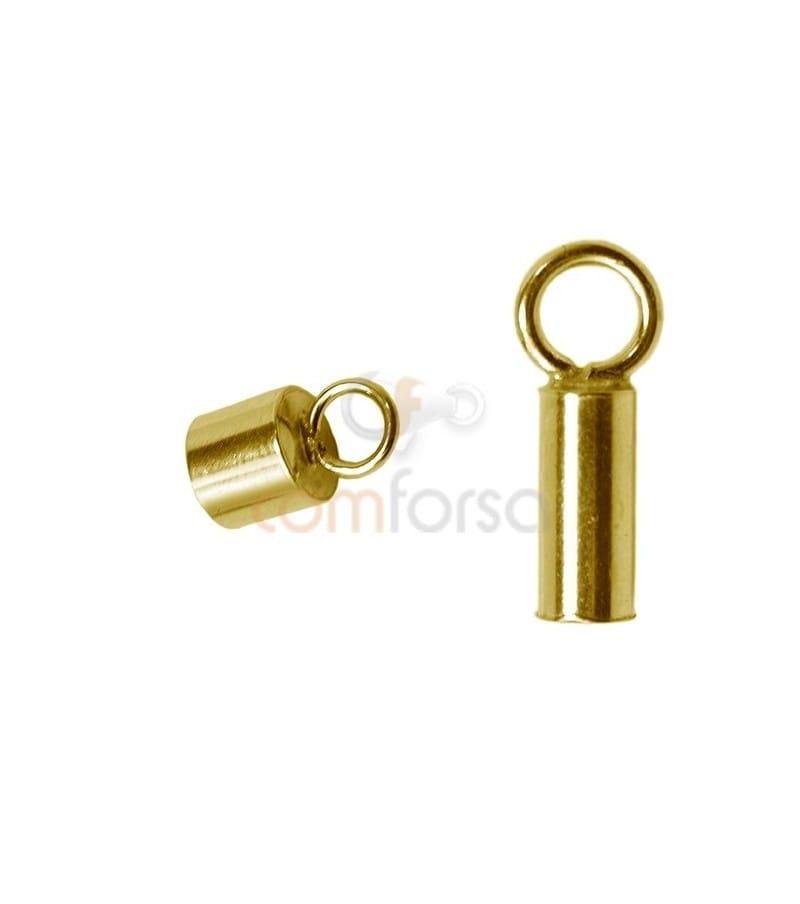 Tube renforcé avec anneau 2.1(Ø) x 6 mm argent doré
