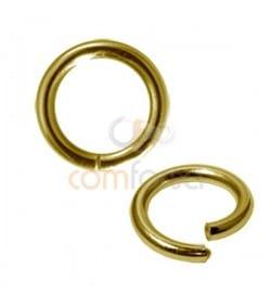 Anneau magique 2x10mm argent plaqué or