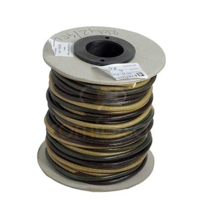 Cuir 4 mm beige/vert Qualité Premium