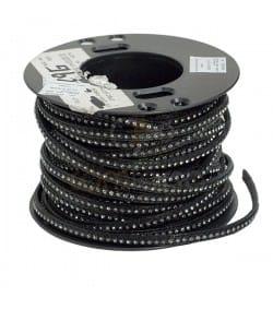 Cuir noir strass 6 mm Premium
