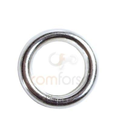 Anneau tube 8 mm (5.5 int) argent 925